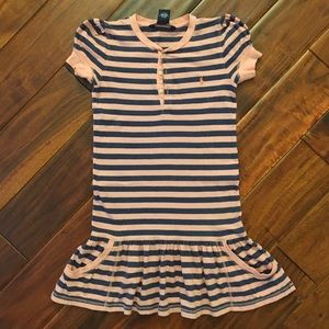 Ralph Lauren Pink and Blue Striped Dress